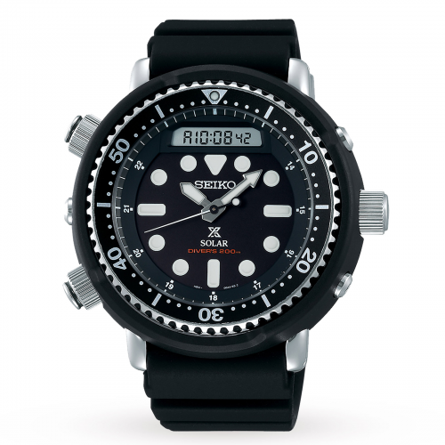 Mens Seiko Prospex Arnie Diver Watch in All Black