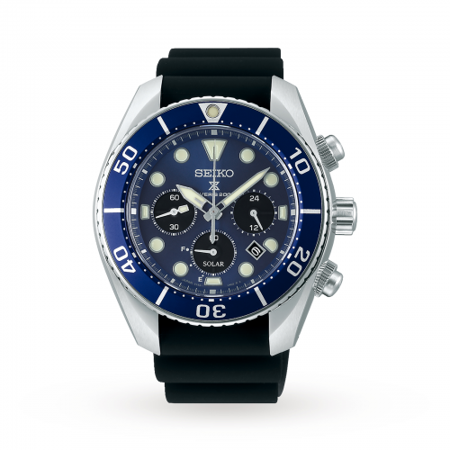 Mens Seiko Prospex Chronograph Watch in Blue
