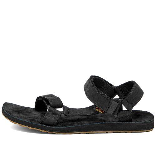 Mens Teva Original Universal Leather Sandals in Black