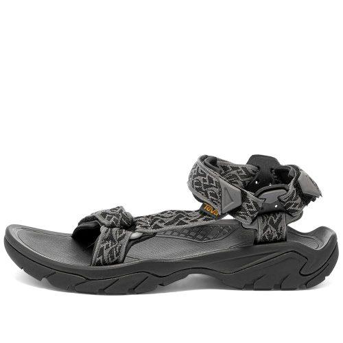 Mens Teva Terra Fi 5 Universal Sandals in Wavy Trail Black