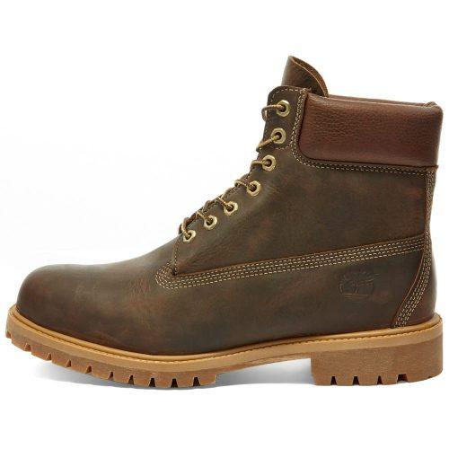 """Mens Timberland 6"""" Premium Boots in Brown Full Grain"""