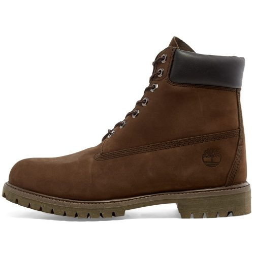 """Mens Timberland 6"""" Premium Boots in Chocolate Brown"""