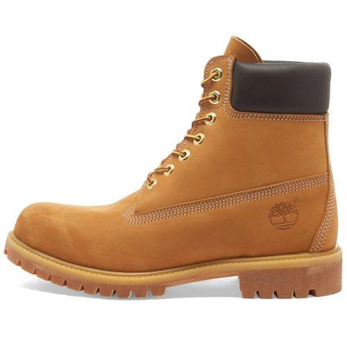 "Mens Timberland 6"" Premium Boots in Wheat Nubuck"