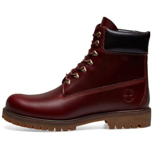 "MensTimberland Heritage 6"" Premium Boot in Burgundy"