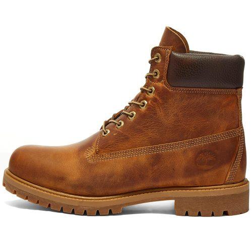 "MensTimberland Heritage 6"" Premium Boots in Oiled Tan"