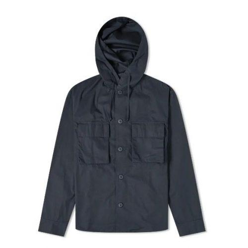 Mens Arpenteur Safari Shirt Jacket in Navy Blue