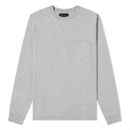 MensBeams Plus Long Sleeve Pocket T-Shirt in Grey