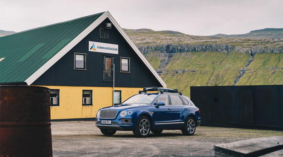 Surfing In The Faroe Islands Guide - Bentley Bentayga Faroes Surfing Parked SUV | SEIKK Magazine