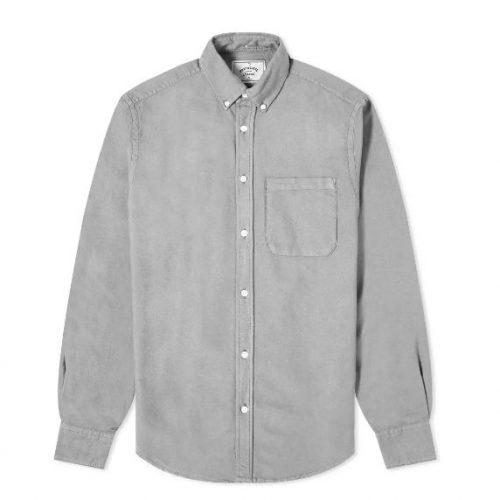 MensPortuguese Flannel Belavista Button Down Oxford Shirt in Grey