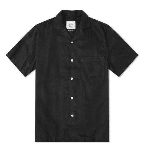 Mens Portuguese Flannel Dogtown Vacation Shirt in Black