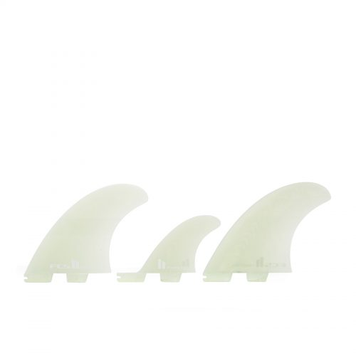 Mens FCS II Power 2+1 Performance Glass Fin in Clear