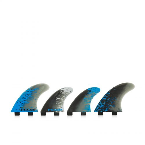 Mens FCS Performance Core 5 Quad Fin in Blue Smoke