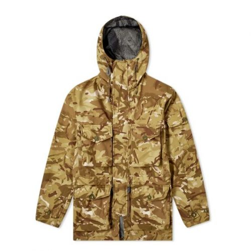 Mens Ark Air Smock & Mesh Parka Jacket in Vista Camo