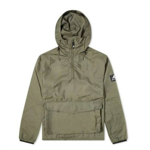 Mens Ark Air Stowaway Anorak Jacket in Tropical Green
