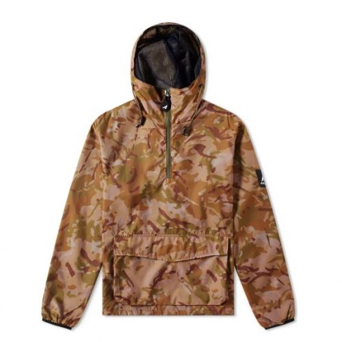 Mens Ark Air Stowaway & Mesh Smock Jacket in Vista Camo