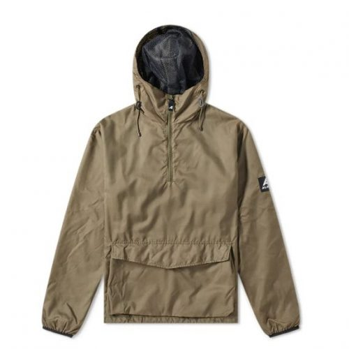 Mens Ark Air Stowaway & Mesh Smock Jacket in Olive