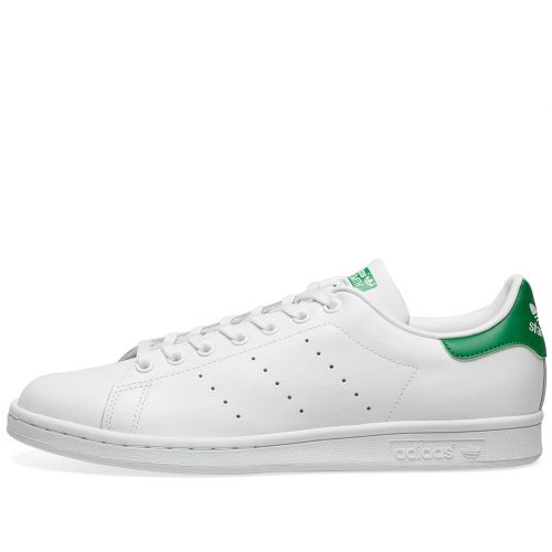 Mens Adidas Stan Smith Sneakers in White and Green