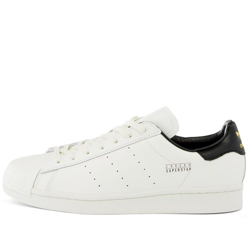 Mens Adidas Superstar Pure London Sneakers in White & Black