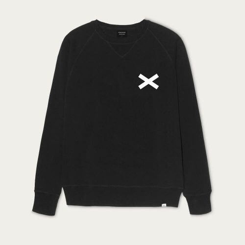Mens Edmmond Studios Cross Sweatshirt in Black