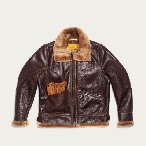 MensShangri-La Heritage B-3 Seal Shearling Jacket in Brown
