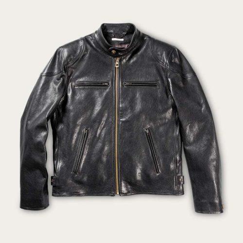 MensShangri-La Heritage Café Racer Leather in Black