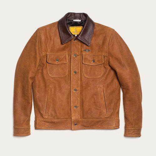 MensShangri-La Heritage Terracotta Western Jacket in Cognac