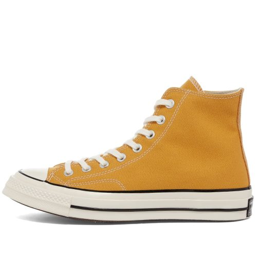 Mens Converse Chuck Taylor 1970s Hi Sneakers in Yellow Canvas
