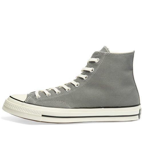 Mens Converse Chuck Taylor 1970s Hi Sneakers in Grey Canvas