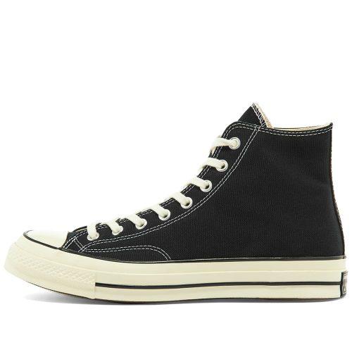 MensConverse Chuck Taylor 1970s Hi Sneakers in All Black Canvas