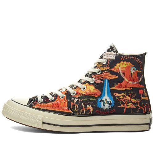 MensConverse Chuck Taylor 1970s Hi Sneakers in Twisted Resort Print