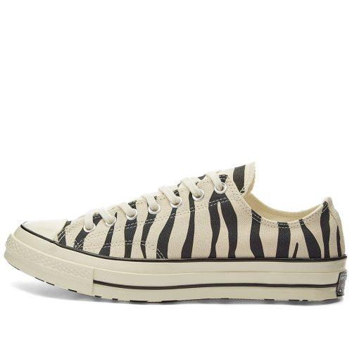 MensConverse Chuck Taylor 1970s Ox Sneakers in Zebra Print