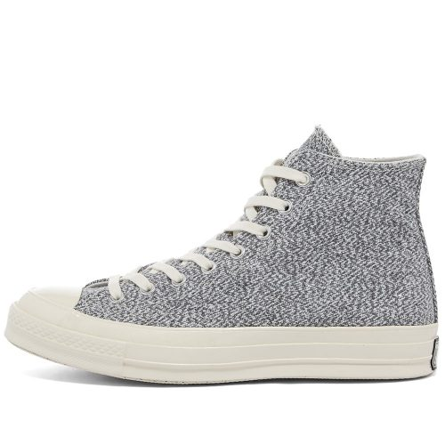 MensConverse Chuck Taylor 1970s Recycled Canvas Hi Sneakers in Black and White