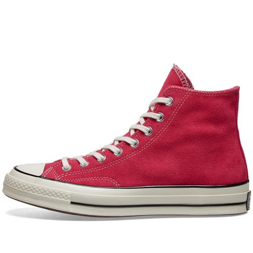 MensConverse Chuck Taylor 1970s Hi Sneakers in Hot Pink Suede
