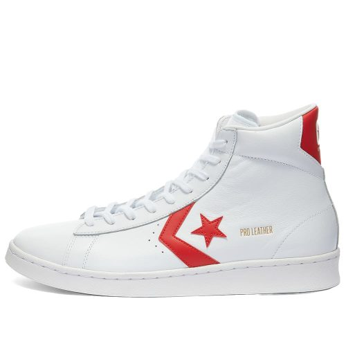 Mens Converse Pro Leather Mid Sneakers in Red and White
