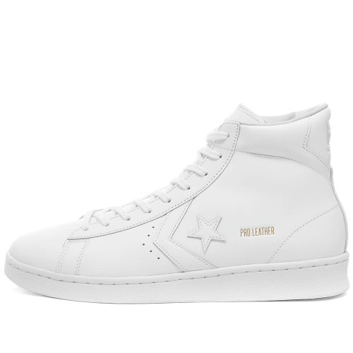 Mens Converse Pro Leather Mid OG Sneakers in All White