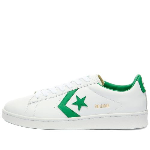 Mens Converse Pro Leather OG Ox Sneakers in White and Green