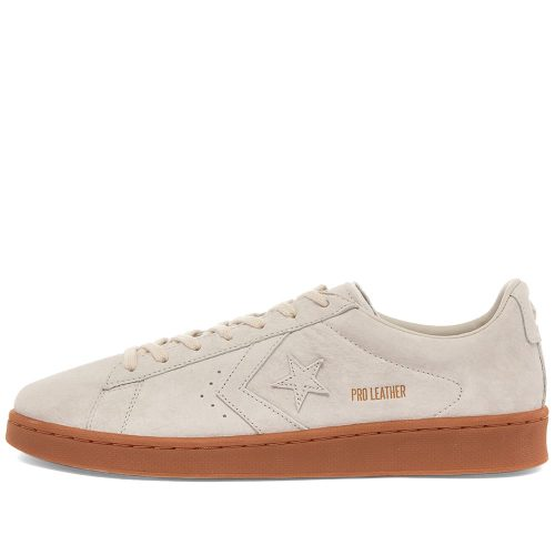 MensConverse Pro Leather OG Ox Sneakers in Light Grey Suede