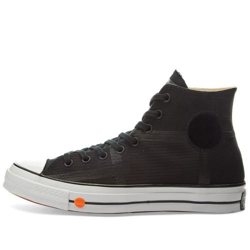 MensConverse x Rokit Chuck Taylor 1970s Hi Sneakers in Black Patchworked