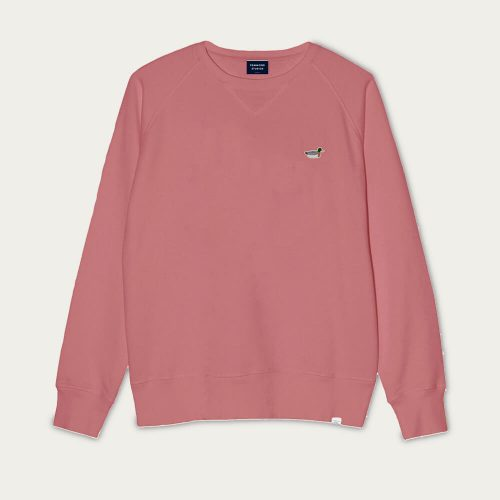 Mens Edmmond Studios Duck Patch Sweatshirt in Coral