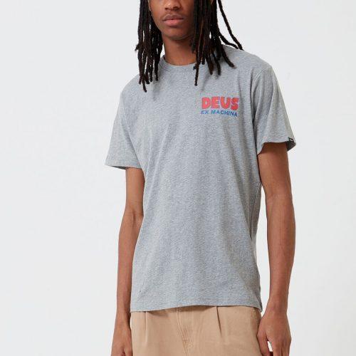 MensDeus Ex Machina Simpli-City T-Shirt in Grey Marle