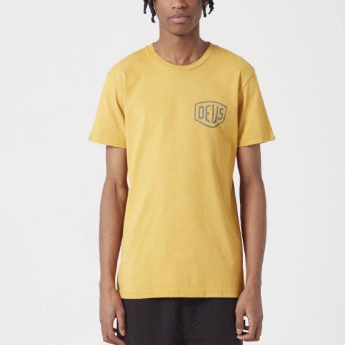 MensDeus Ex Machina Sunbleached Tokyo T-shirt in Gold