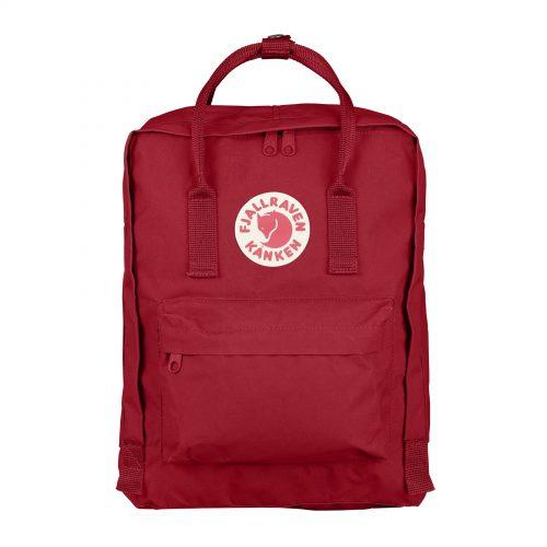 Mens Fjallraven Kanken Classic Backpack in Deep Red
