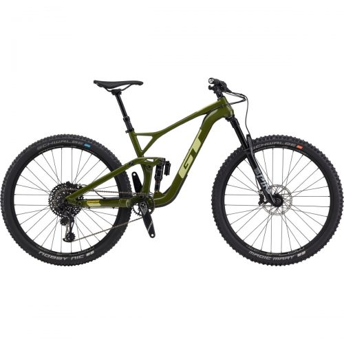 Mens GT Sensor Carbon Expert Mountain Bike (2020) in Military Green