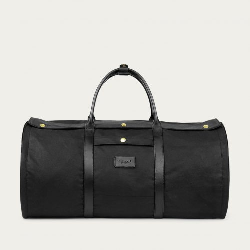 Mens Malle London Garment Duffel Bag in Black