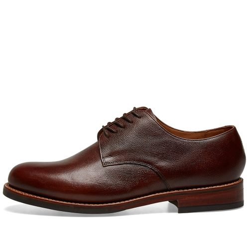 Mens Grenson Curt Dainite Sole Derby Shoes in Dark Brown