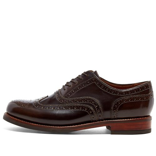 Mens Grenson Stanley Brogue Shoes in Pickled Walnut