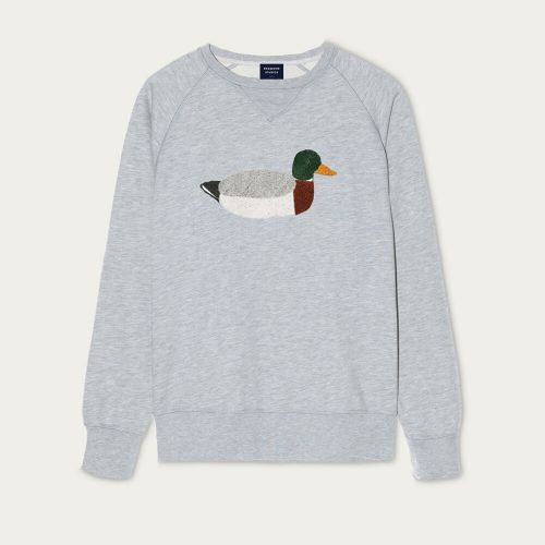 Mens Edmmond Studios Duck Hunt Sweatshirt in Grey