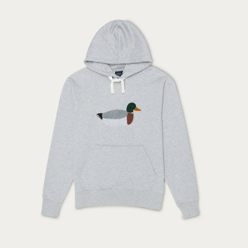 Mens Edmmond Studios Duck Hunt Hoodie in Grey