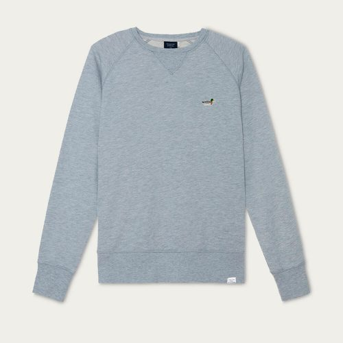 Mens Edmmond Studios Duck Patch Sweatshirt in Grey