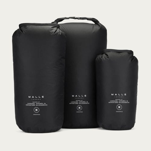 Mens Malle London Hurricane Dry Bags in Black.
